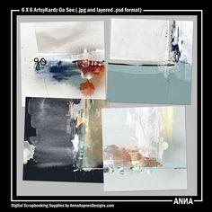 Oscraps :: Shop by Designer :: Anna Aspnes Designs :: 6 X 6 ArtsyKardz Go See