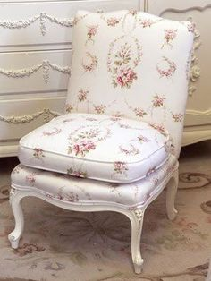 Romantic Cottage  /  My, the chair!  Would LOVE one like it in my bedroom.