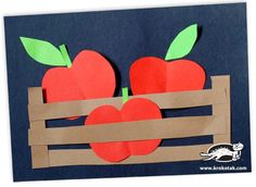 Apples in a box kids crafts Apple Activities, Creative Activities, Diy For Kids, Crafts For Kids, Arts And Crafts, Autumn Crafts, Summer Crafts, Kindergarten Crafts, Preschool Crafts