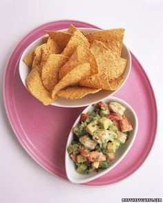 Shrimp and Avocado Ceviche - serve with tortilla chips for a delicious snack #nationalshrimpday