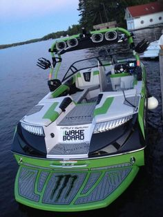 SeaDek pads on the Nautique Monster Energy Boat at Wakestock 2012 Wakeboarding, Monster Energy, Ski Nautique, Wakeboard Boats, Pontoon Boats, Ski Boats, Motor Boats, Boat Stuff, Yacht Boat