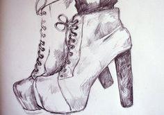 topuklu ayakkabı çizimi