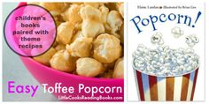 "SUPER EASY toffee popcorn recipe paired with a fun kids' book called, ""Popcorn!"" full of fun facts, trivia and information. Great for Homeschool, educators and teachers, too! Check it out if you're looking for a caramel popcorn recipe. Flavored Popcorn, Popcorn Recipes, Candy Recipes, Halloween Cakes, Fall Halloween, Toffee Popcorn, Kids Meals, Easy Meals, Christmas Foods"