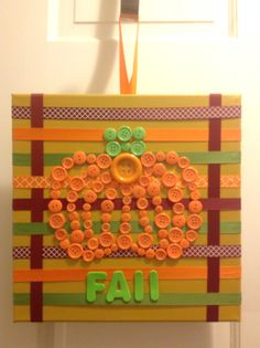 Pumpkin button art! Super cute and easy!!