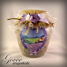 DIY - FREE instructions: upcycle a jam jar to create a fragrant lavender home decoration!