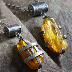 Yellow Jewelry, Amber Jewelry, Copper Jewelry, Clay Jewelry, Stone Jewelry, Pendant Jewelry, Jewelry Art, Jewelry Design, Artisan Jewelry