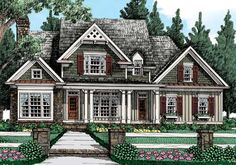 Bucknell Place - Home Plans and House Plans by Frank Betz Associates