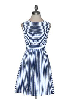 Emily and Fin - Sailor Stripes Dress. What a beautiful style, and lined with pockets too! Pretty Outfits, Pretty Dresses, Cute Outfits, White Chucks, Vogue, Dress Me Up, Blazers, Striped Dress, Dress To Impress