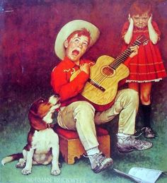 The Music Man by Norman Rockwell (1894 – 1978, American)