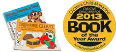 Our workbooks published in 2013 won the Book of the Year Award for Creative Child Magazine.  The combo is designed to be used in sequential order starting with the Treasure CHEST and then Heads, Tummies, & Tails.