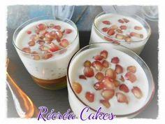 verrine perles du japon Grenade, Nouvel An, Pudding, Cakes, Desserts, Food, Design, Almond Milk, Beads