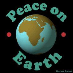 Animated peace on earth