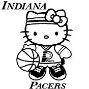 New Custom Screen Printed T-shirt Indiana Pacers Hello Kitty Bas FREE MARDI GRAS BEADS WITH EVERY T-SHIRT PURCHASE!! www.shop.dscreenprintedtshirts.com