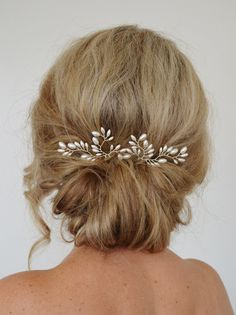 Art Deco Wedding Hair Accessories Fern Leaf Bridal Hair Pins Rice Pearl Formal Hair Pins Wedding Hair piece Wedding Hair Pins Set of 2 Wedding Hair Pins, Bridal Hair Vine, Wedding Hair And Makeup, Headpiece Wedding, Wedding Art, Wedding Veils, Bridal Headpieces, Wedding Dresses, Hair Accessories For Women