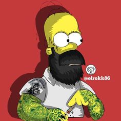 Hipster Homer Simpson