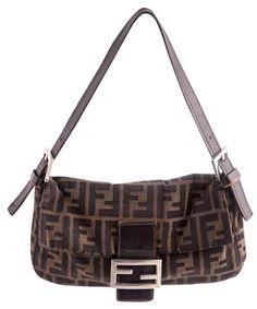 048b11a85b8 Gb1032176K FENDI Zucca Canvas Mia Flap Bag Designer  Fendi Material  Zucca…  Brown Canvas
