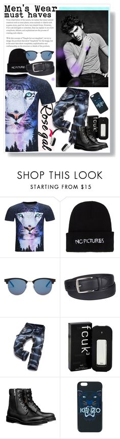"""""""RG7434735"""" by nixiey ❤ liked on Polyvore featuring Nasaseasons, Yves Saint Laurent, Columbia, French Connection, Kenzo, Master & Dynamic, men's fashion and menswear"""