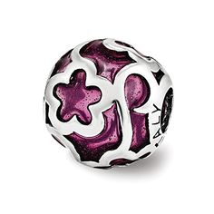 Purple Filigree Enameled Charm in Sterling Silver >>> Learn more by visiting the image link.