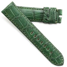 ce99ebc64 Toscana Hand made Genuine Alligator in Green 24/22 125/80 for Tang buckles. Watch  StrapsChocolate BrownTie ...