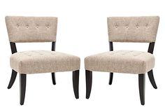 Jill Chairs, Pair on OneKingsLane.com (The Power of Pairs sale)