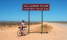Nullarbor Plains Region, South Australia (Nullus Arbor means 'no trees.')  The beginning of the true Nullarbor Plain coming from the east.  - photo by Max Jerreries / Image from http://alycesride.wordpress.com/