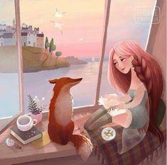 Red fox art by Eugene Smolenceva ( Art And Illustration, Fuchs Illustration, Kawaii, Fox Drawing, Pet Fox, Fox Art, Animal Totems, Pencil Art Drawings, Spirit Animal