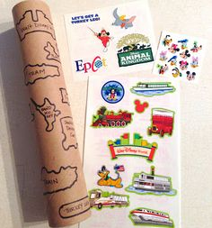 Fun travel game - remove outer part of stickers, trace shapes onto paper towel tube and then it's a matching game to keep kids busy while traveling