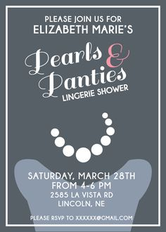 Lingerie Shower Invite Digital File by CWesterbuhr on Etsy