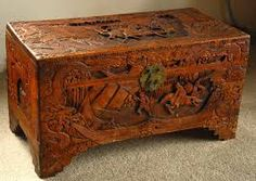 Carved Wooden Trunks Chinese Chest Hand Carved Camphor