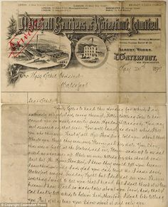 Victorian love letters recently bought by Lancashire Archives. I love the elaborateness of old business letter heads.