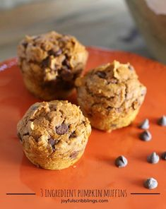 3 Ingredient Pumpkin Muffin Recipe