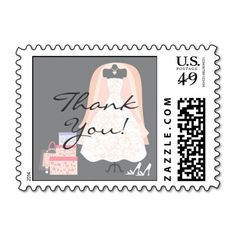 Thank You Bridal Shower Small Stamp