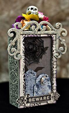 Altered halloween matchbox