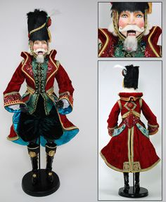 "Katherine's Collection Imperial Guardsman Christmas Collection Approx 36"" Colonel Viktor Vladimir Nutcracker Doll Free Ship"