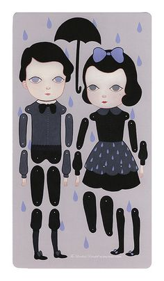 Such cute printable paper articulated dolls!