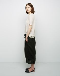 Raquel Allegra / Perfect Tee Raquel Allegra / Double Layer Skirt Riudavets / Avarca Sandal #pf14