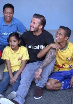 David Beckham in Manila for UNICEF