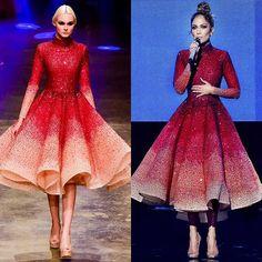 JENNIFER LOPEZ wears a couture dress from my Spring-Summer 2016 Collection shown at Dubai Fashion Forward... @sayed5inco @jlo @stylepr @antonio_esteban @inessa_shak @ffwddxb... #couture #hollywood #jlo #AMAs #dubai #ffwddxb #mydubai #madeindubai #michaelcinco...