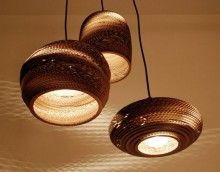Created from salvaged cardboard - recycled beauty for your light fittings... #home | letu0027s live beautiful | Pinterest | Cardboard recycling Light fittings ... & Created from salvaged cardboard - recycled beauty for your light ... azcodes.com