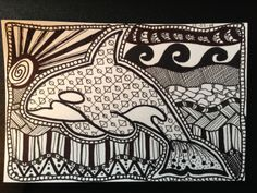 This is my own tangle...an orca.  ~~ terrie lynn
