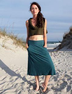 Gaia Conceptions - Kangaroo Pocket Below Knee Skirt, $85.00 (http://www.gaiaconceptions.com/kangaroo-pocket-below-knee-skirt/)
