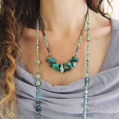 Emerald Opal en Turquoise ketting kan / oktober / December