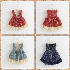 Princess Babies Girls Floral Vests Party Dresses Lace Frilled Candy Color Tutu Patchwork Dress V Neck Sleeveless Sweet Dress From Smartmart, $49.55 | Dhgate.Com