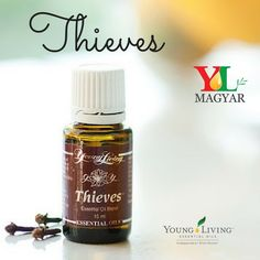 Thieves® was created based on research about four thieves in France who protected themselves with cloves, rosemary, and other aromatics while robbing plague victims. This proprietary blend was university tested and found to be highly effective in supporting the immune system and good health.Ingredients:Clove (Syzygium aromaticum), lemon (Citrus limon), cinnamon (Cinnamomum verum), Eucalyptus radiata and rosemary (Rosmarinus officinalis CT 1,8 cineol).