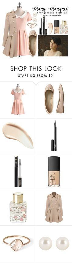 """Mary Margret- Storybrooke Edition"" by storybrookestyle ❤ liked on Polyvore featuring Once Upon a Time, Gap, Burberry, NARS Cosmetics, Lancôme, Lollia, Parisi and Henri Bendel"