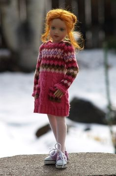 "Knitting pattern for Helen Kish's 14"" Chrysalis dolls by SewCoolSeparates on Etsy"