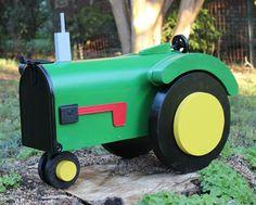 John Deere-style Tractor Mailbox