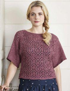 Dolman sweater knitting pattern