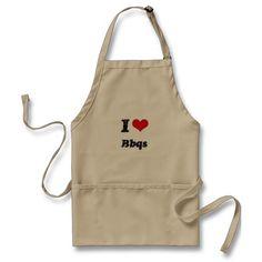 I Love BBQS Apron