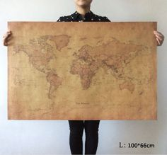 World-Map-Poster-Large-Vintage-Retro-Earth-Globe-decor-coffee-Cafe-Shop-Chart